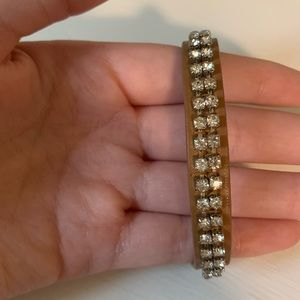 American Eagle leather and crystal bracelet